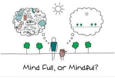 "Mindful not ""mind full"""